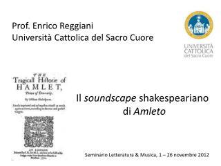 Seminario Letteratura & Musica, 1 – 26 novembre 2012