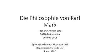 Die  Philosophie  von Karl Marx