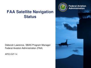 FAA Satellite Navigation Status