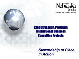 ExecutivE MBA Program International Business  Consulting Projects