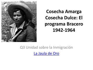 Cosecha Amarga Cosecha Dulce: El programa Bracero 1942-1964