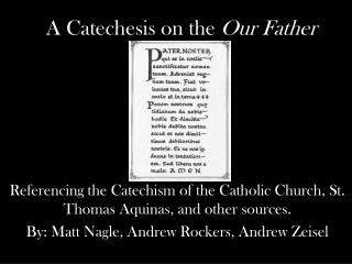 A Catechesis on the  Our Father