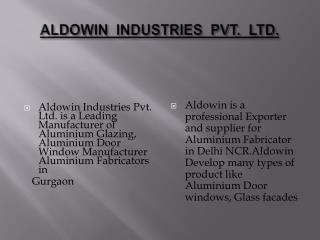 Aluminium Fabricators in Delhi