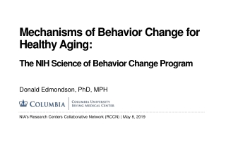 Health Behavior Change Project