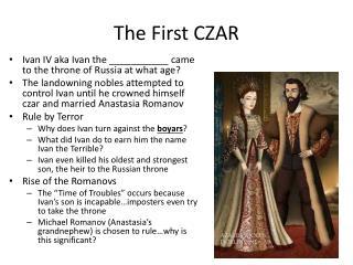 The First CZAR