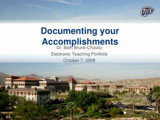 Documenting your Accomplishments