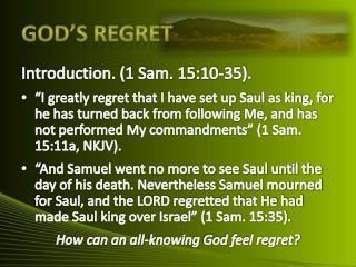 God's Regret