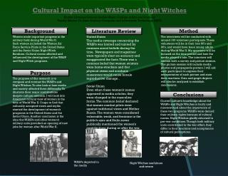 Cultural Impact on the WASPs and Night Witches