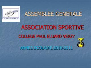 ASSEMBLEE GENERALE  ASSOCIATION SPORTIVE