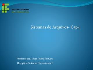 Professor Esp. Diego André Sant'Ana