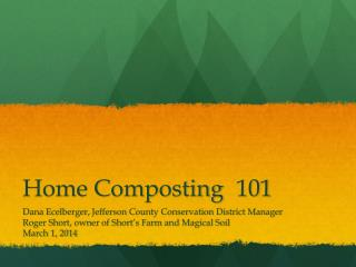 Home Composting101