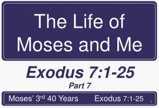 The Life of Moses and Me