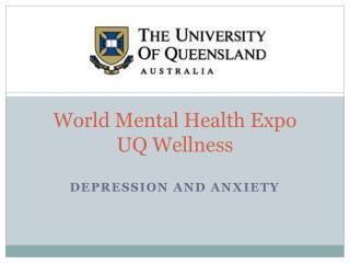 World Mental Health Expo UQ Wellness