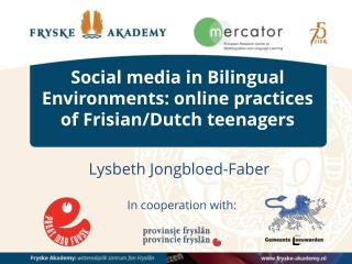 Social media in Bilingual Environments: online practices of Frisian/Dutch teenagers