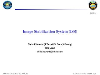Image Stabilization System ISS