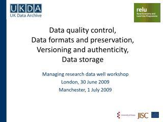 Good data management