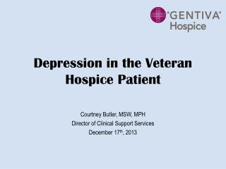 Depression in the Veteran Hospice Patient