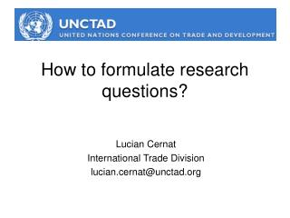 How to formulate research questions