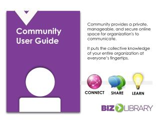Community User Guide