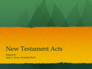 New Testament Acts