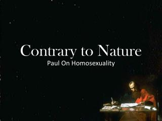 Contrary to Nature