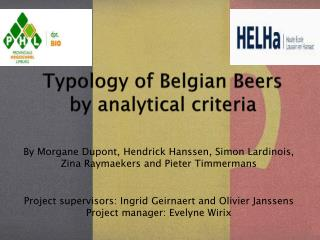 Typology of Belgian Beers by analytical criteria