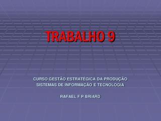 TRABALHO 9