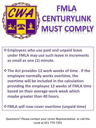 Fm la centurylink must comply