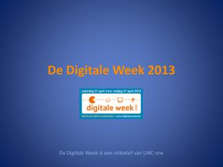 De Digitale Week 2013