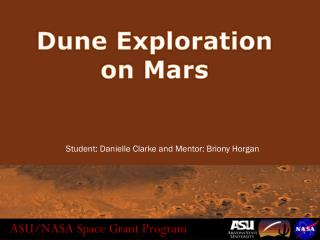 Dune Exploration on Mars