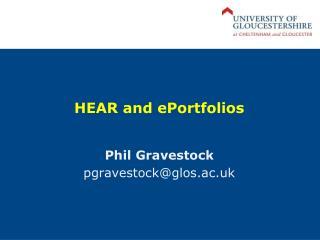 HEAR and  ePortfolios