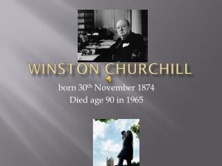 Winston  C hurchill