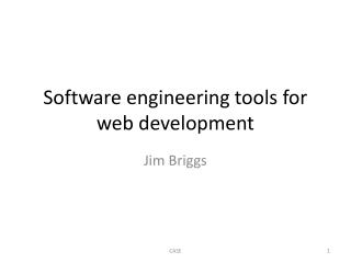 Software engineering tools for web development