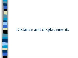 Distance and displacements