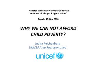 Judita Reichenberg UNICEF Area Representative