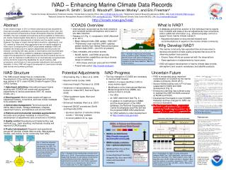 IVAD development supported through a grant from the NOAA Climate Program Office.