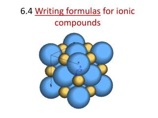 6.4  Writing formulas  for ionic compounds