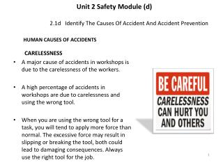 2.1d   Identify The Causes Of Accident And Accident Prevention
