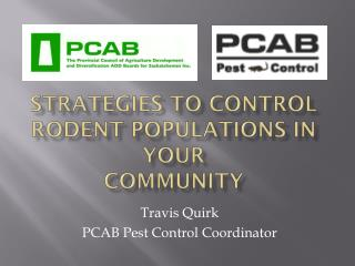 Strategies to Control Rodent Populations in Your Community