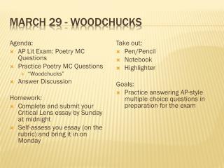 March 29 - Woodchucks