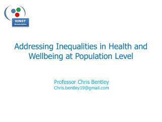 Addressing Inequalities in Health and Wellbeing at Population Level