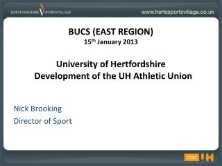Nick Brooking Director of Sport
