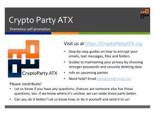 Crypto Party ATX