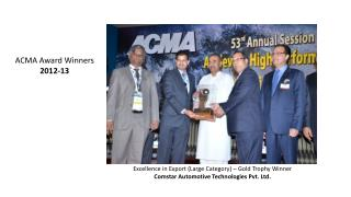 Excellence in Export (Large Category) – Gold Trophy Winner