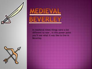 MEDIEVAL BEVERLEY