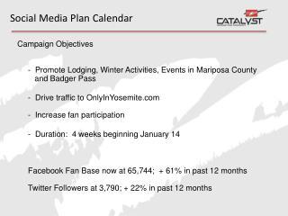 Social Media Plan Calendar