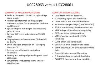 UCC28063 versus UCC28061