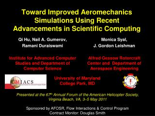 Toward Improved Aeromechanics Simulations Using Recent Advancements in Scientific Computing