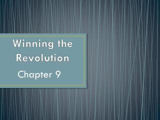 Winning  the Revolution