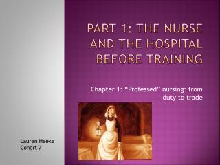 Part 1: The nurse and the hospital before training